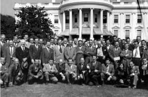 White House press with Harry S. Truman